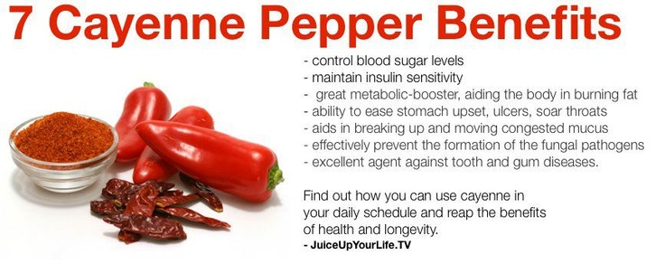 Benefits of cayenne pepper..one of the top 5 healthiest spices