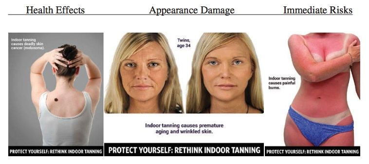 """A woman has posted a series of shocking pictures showing how she has been ravaged by skin cancer after using tanning beds. On her Facebook page Judy Cloud wrote: 'This is skin cancer. This is the result of using tanning beds when I was younger. This is the result"""